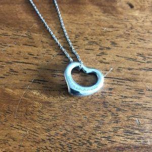 Tiffany Silver Open Heart Necklace